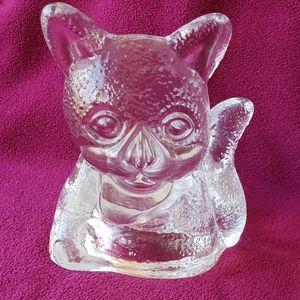 Cute Kitten Cat Lead Glass Votive Candle Holder
